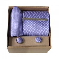 Fialová kravata so vzorom v darčekovom balení MARROM