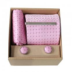 Ružová kravata v darčekovom balení MARROM