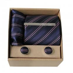 Tmavomodrá kravata v darčekovom balení MARROM