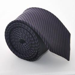 Hodvábna kravata ADRIANO GUINARI (Čierno-fialová)