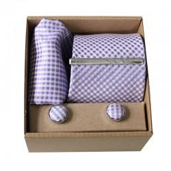 Svetlofialová kravata v darčekovom balení MARROM