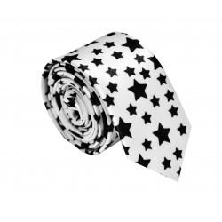 Crazy kravata (biela s hviezdičkami)