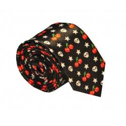 Crazy kravata (černá s lebkami)
