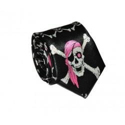Crazy kravata (černá s malými lebkami)