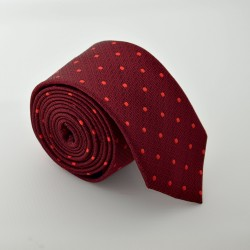 Červená kravata ANGELO di MONTI ADM-72