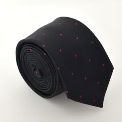 Čierna kravata ANGELO di MONTI ADM-73