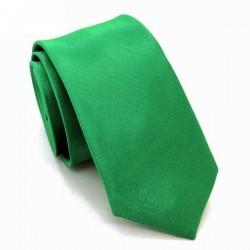 Jednobarevná SLIM kravata - zelená