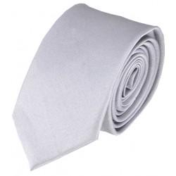 Jednobarevná SLIM kravata (šedo-bílá)