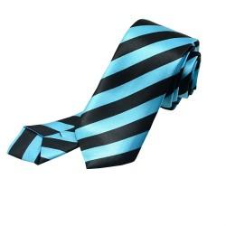 Crazy kravata (černo - modré proužky)