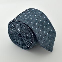 Oceľovo modrá kravata ANGELO di MONTI ADM-90