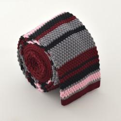 Pletená kravata - prúžkovaná