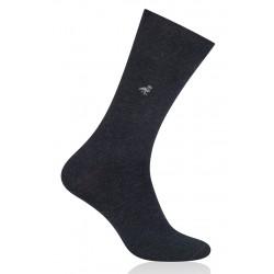 Pánske ponožky fialové s čiernou pätou 39/42