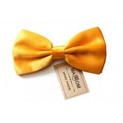 Pánsky motýlik MARROM - žlto / zlatý