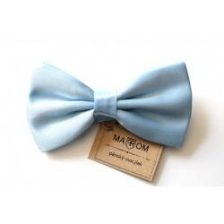 Pánsky motýlik MARROM - svetlo modrý