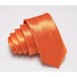 Oranžová kravata SLIM - lesklá