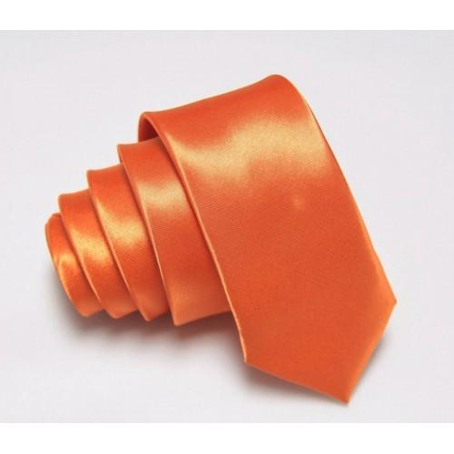Jednofarebná SLIM kravata (tmavofialová)