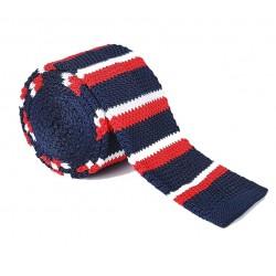 Pletená kravata - prúžky 02