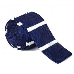 Pletená kravata MARROM - prúžky 03