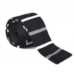Pletená kravata - proužky 04