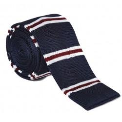 Pletená kravata - prúžky 05