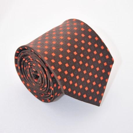Hnědá kravata ANGELO di MONTI