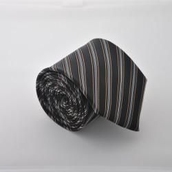 Čierna kravata s prúžkami ANGELO di MONTI