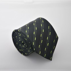Čierna kravata s prúžkami 2 ANGELO di MONTI