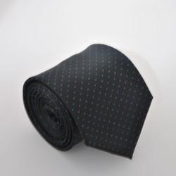 Černá kravata s modrými tečkami ANGELO di MONTI