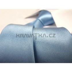 Svetlo modrá kravata SLIM - lesklá