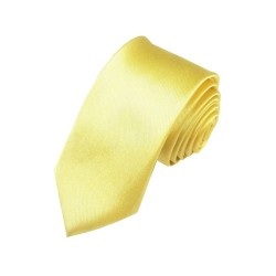 Žlto / zelenkavá kravata SLIM - lesklá