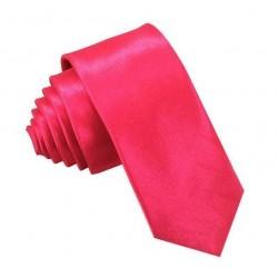 Ružová kravata SLIM - lesklá