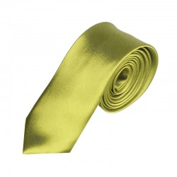 Olivovo zelená kravata SLIM - lesklá