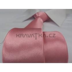Jednofarebná SLIM kravata (lososová)