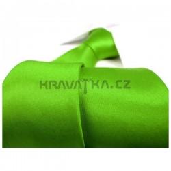 Raziace zelená kravata SLIM - lesklá