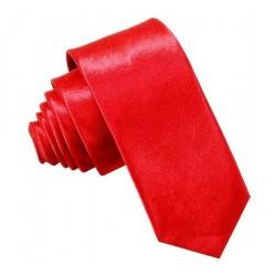 Jednofarebná SLIM kravata (červená)