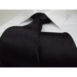 Jednofarebná SLIM kravata (čierna)