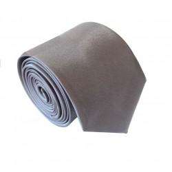 Jednofarebná SLIM kravata - tmavo šedá