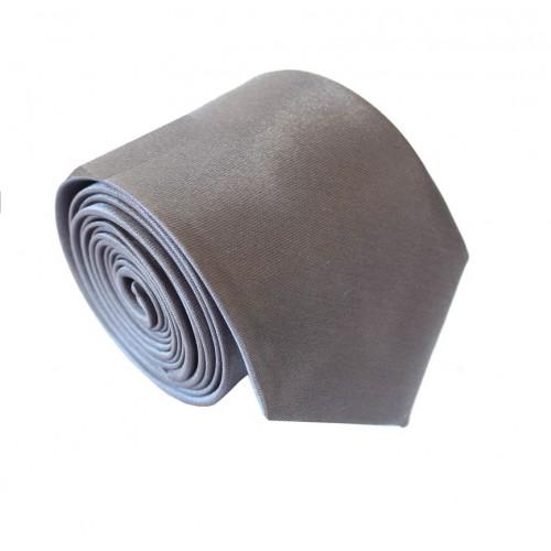 Jednobarevná SLIM kravata (tmavě šedá)
