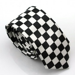 Crazy kravata (černo-bílá šachovnice)