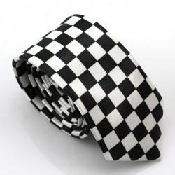 Crazy kravata (čierno-biela šachovnica)