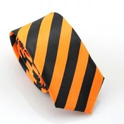 Crazy kravata (Čierno-oranžové prúžky)