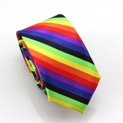 Crazy kravata (černo-oranžové proužky)