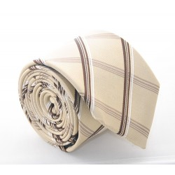 Hodvábna kravata ADRIANO GUINARI (hnedé káro)