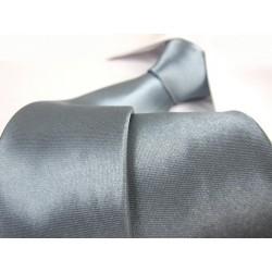 Šedo / modrá kravata SLIM - lesklá