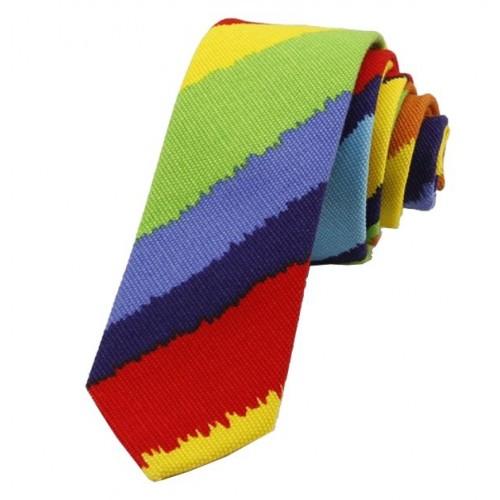Kravata MARROM - rainbow