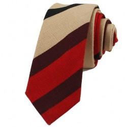 Kravata MARROM - proužky I