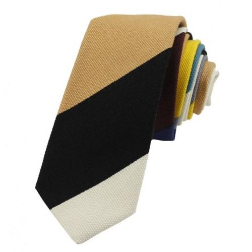 Kravata MARROM - prúžky II