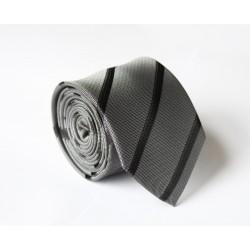 Šedá kravata ANGELO di MONTI ADM-98