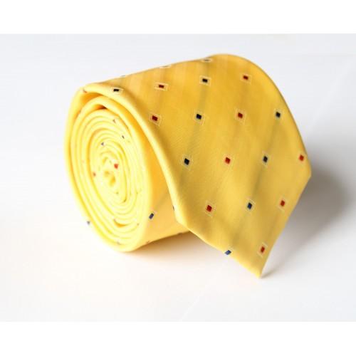 Žltá kravata ANGELO di MONTI ADM-104
