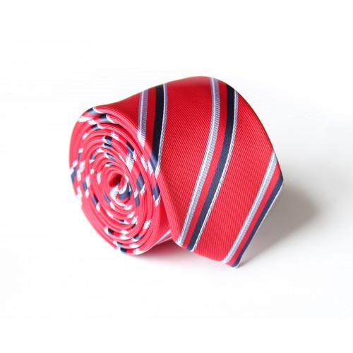 Červená kravata ANGELO di MONTI ADM-116